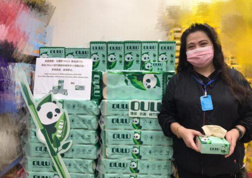 OULU 100%環保純竹槳紙巾🐼🎋銅鑼灣記利佐治街惠康推廣活動🎉